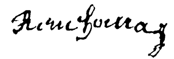 Signature de René Houray